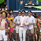 Remy Hii, Chris Pang, Jimmy O. Yang, Ronny Chieng, and Henry Golding in Crazy Rich Asians (2018)