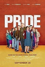 Imelda Staunton, Paddy Considine, Bill Nighy, Andrew Scott, Dominic West, George MacKay, Ben Schnetzer, and Faye Marsay in Pride (2014)