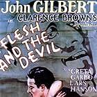 Greta Garbo, John Gilbert, and Lars Hanson in Flesh and the Devil (1926)