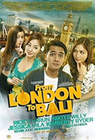 Ricky Harun, Nikita Willy, Kimberly Ryder, and Jessica Mila in From London to Bali (2017)