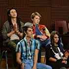 Lea Michele, Harry Shum Jr., Damian McGinty, and Samuel Larsen in Glee (2009)