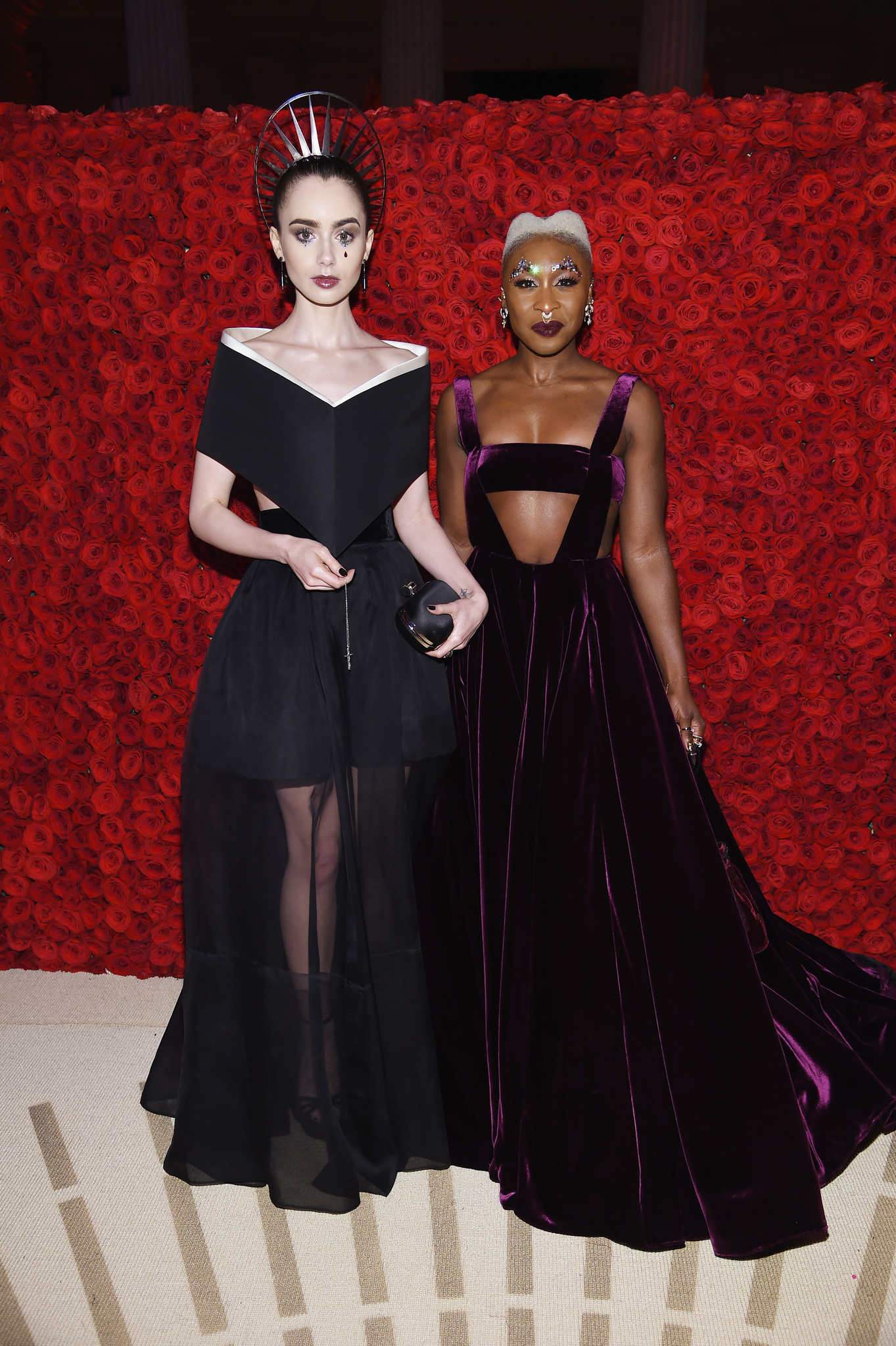 Lily Collins and Cynthia Erivo