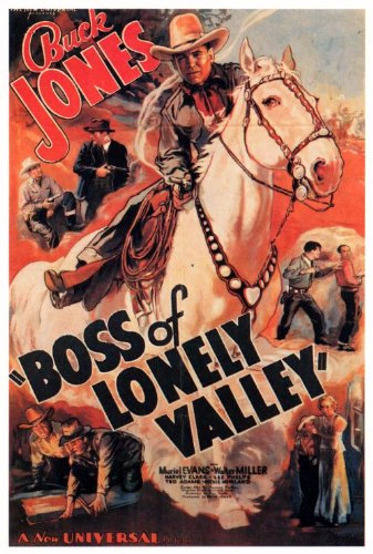 Buck Jones and Silver in Boss of Lonely Valley (1937)