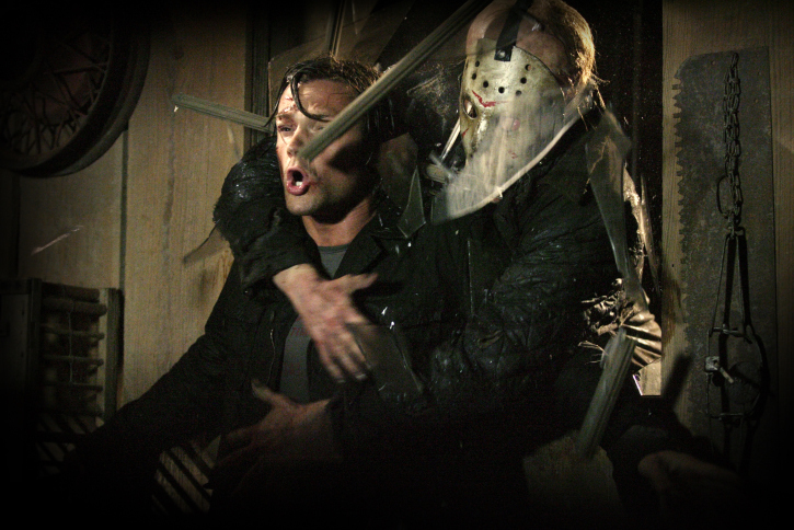 Derek Mears and Jared Padalecki in Friday the 13th (2009)