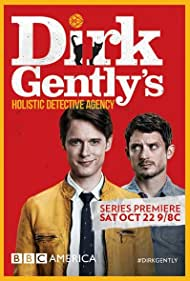 Elijah Wood and Samuel Barnett in Dirk Gently's Holistic Detective Agency (2016)