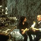 Director Tim Burton with Vincent Price