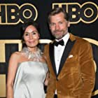 Nikolaj Coster-Waldau and Nukaaka Coster-Waldau arrive at HBO's Post Emmy Awards Reception