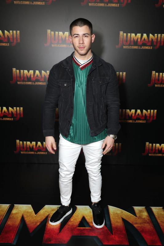 Nick Jonas at an event for Jumanji: Welcome to the Jungle (2017)