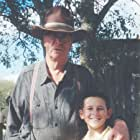 """Michael Caine and Mitchel Musso on the set of """"Secondhand Lions""""."""