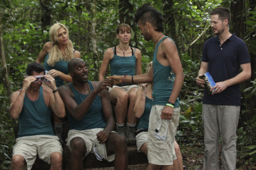Lou Diamond Phillips, John Salley, Torrie Wilson, Damien Fahey, and Sanjaya Malakar in I'm a Celebrity, Get Me Out of Here! (2003)