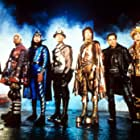 Hank Azaria, Janeane Garofalo, William H. Macy, Paul Reubens, Ben Stiller, Kel Mitchell, and Wes Studi in Mystery Men (1999)