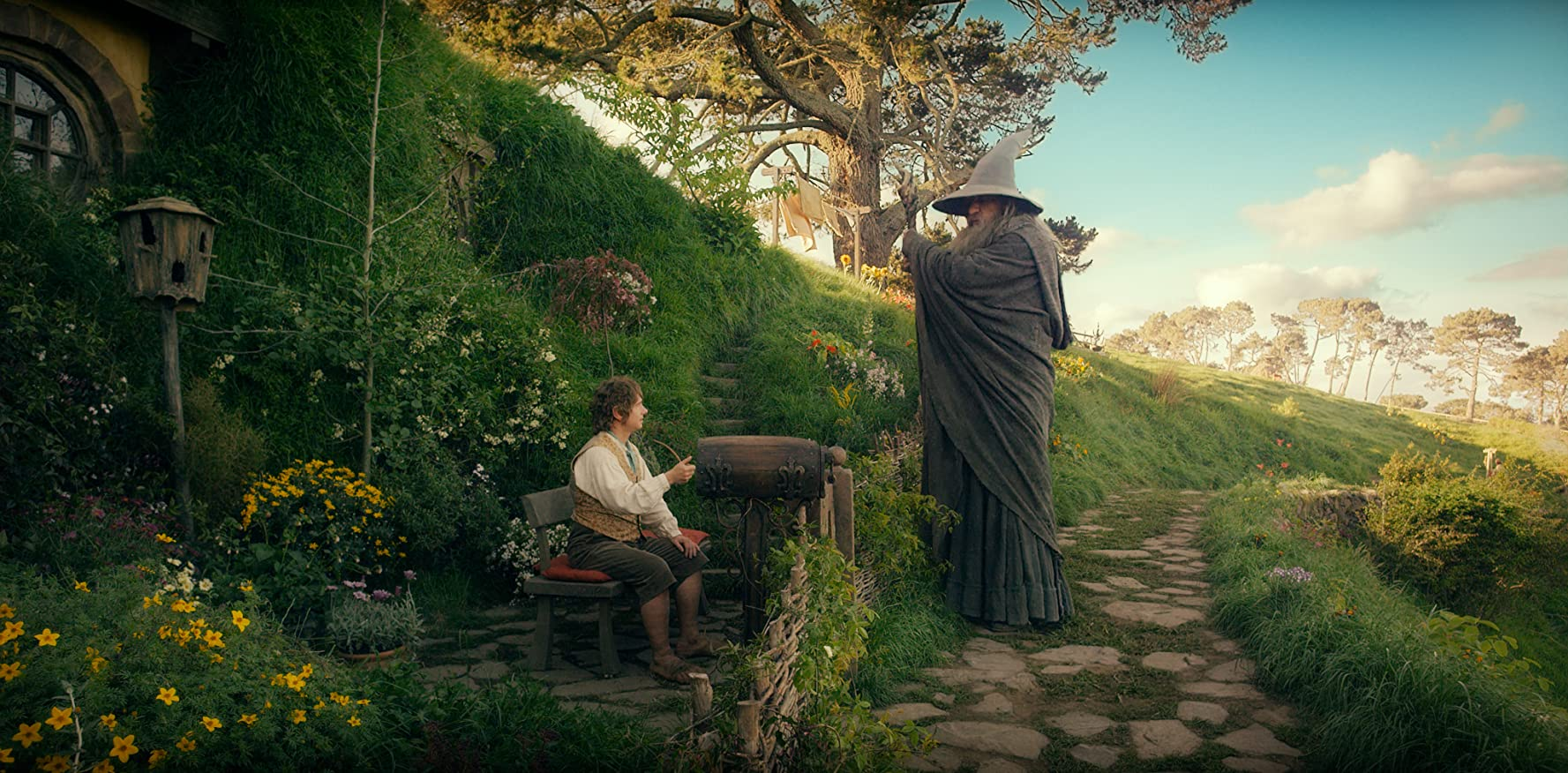 Ian McKellen and Martin Freeman in The Hobbit: An Unexpected Journey (2012)