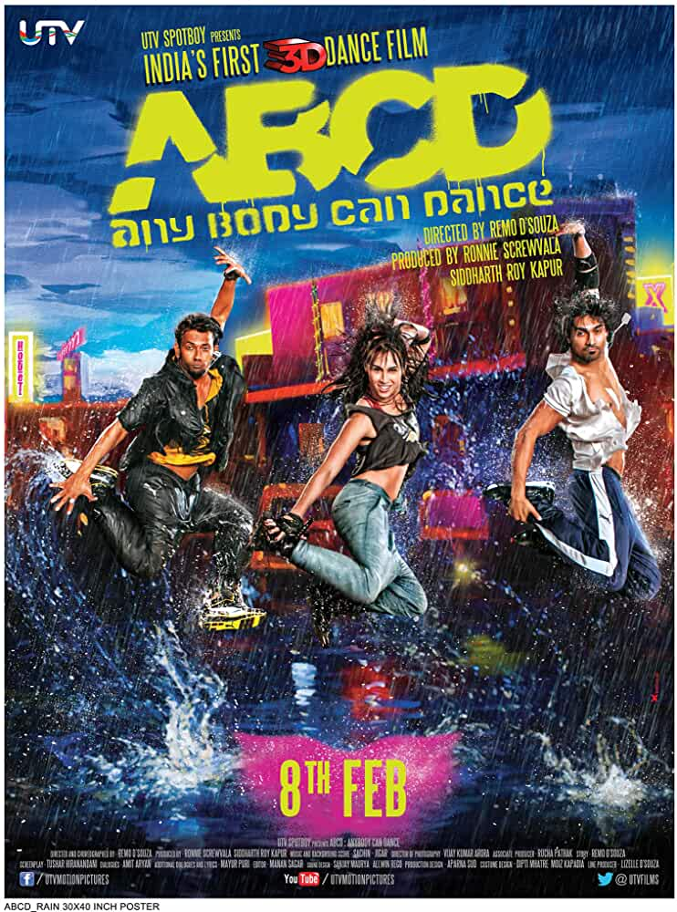 ABCD (Any Body Can Dance) (2013) Hindi 720p NF HEVC HDRip x265 AAC ESubs [650MB] Full Bollywood Movie