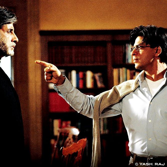 Amitabh Bachchan and Shah Rukh Khan in Mohabbatein (2000)