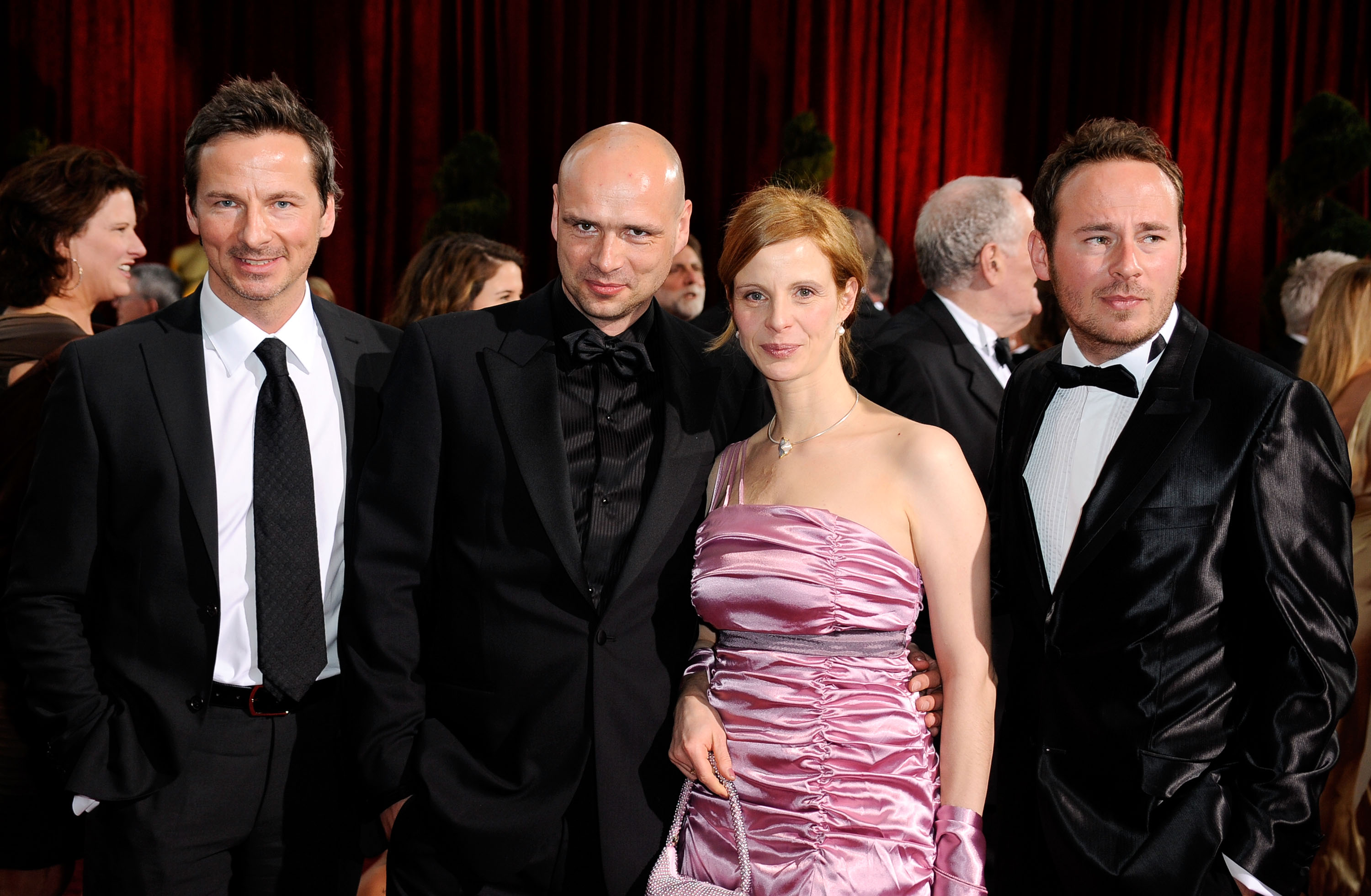 LOS ANGELES, CA - FEBRUARY 22: (L-R) Actor and producer DAVID BUNNERS, Filmmaker JOCHEN FREYDANK, actress JULIA JAEGER and screenwriter JOHANN BUNNERS arrive at the 81st Annual Academy Awards held at Kodak Theatre on February 22, 2009
