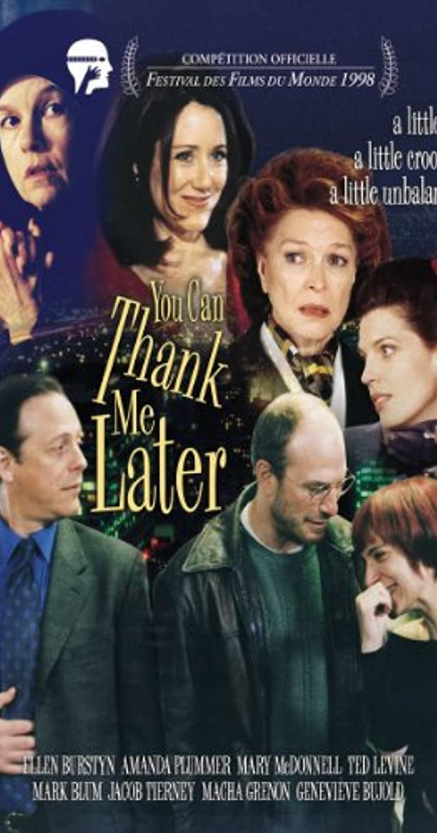 You Can Thank Me Later (1998) - News - IMDb