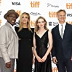 Julia Roberts, Courtney B. Vance, Peter Hedges, and Kathryn Newton at an event for Ben Is Back (2018)