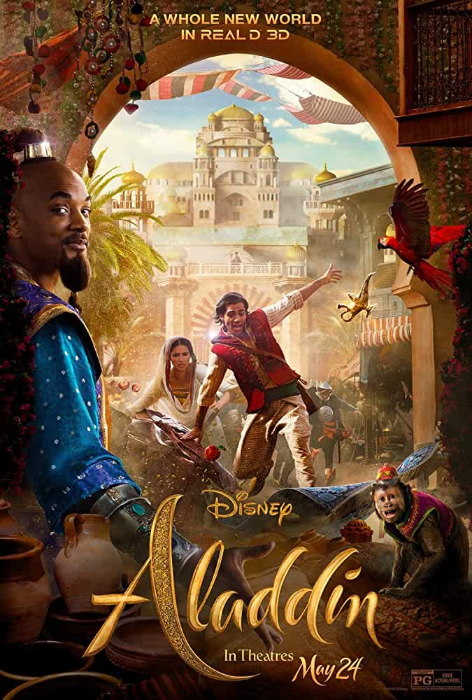 Aladdin (2019) 720p HDCAM Hollywood Movie [Dual Audio] [Hindi (Cleaned) Or English] x264 AAC [1GB] Full Movie Download