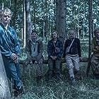 Alba August, Lucas Lynggaard Tønnesen, Sonny Lindberg, Jessica Dinnage, and Lukas Løkken in The Rain (2018)