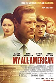 Robin Tunney, Aaron Eckhart, Sarah Bolger, and Finn Wittrock in My All-American (2015)