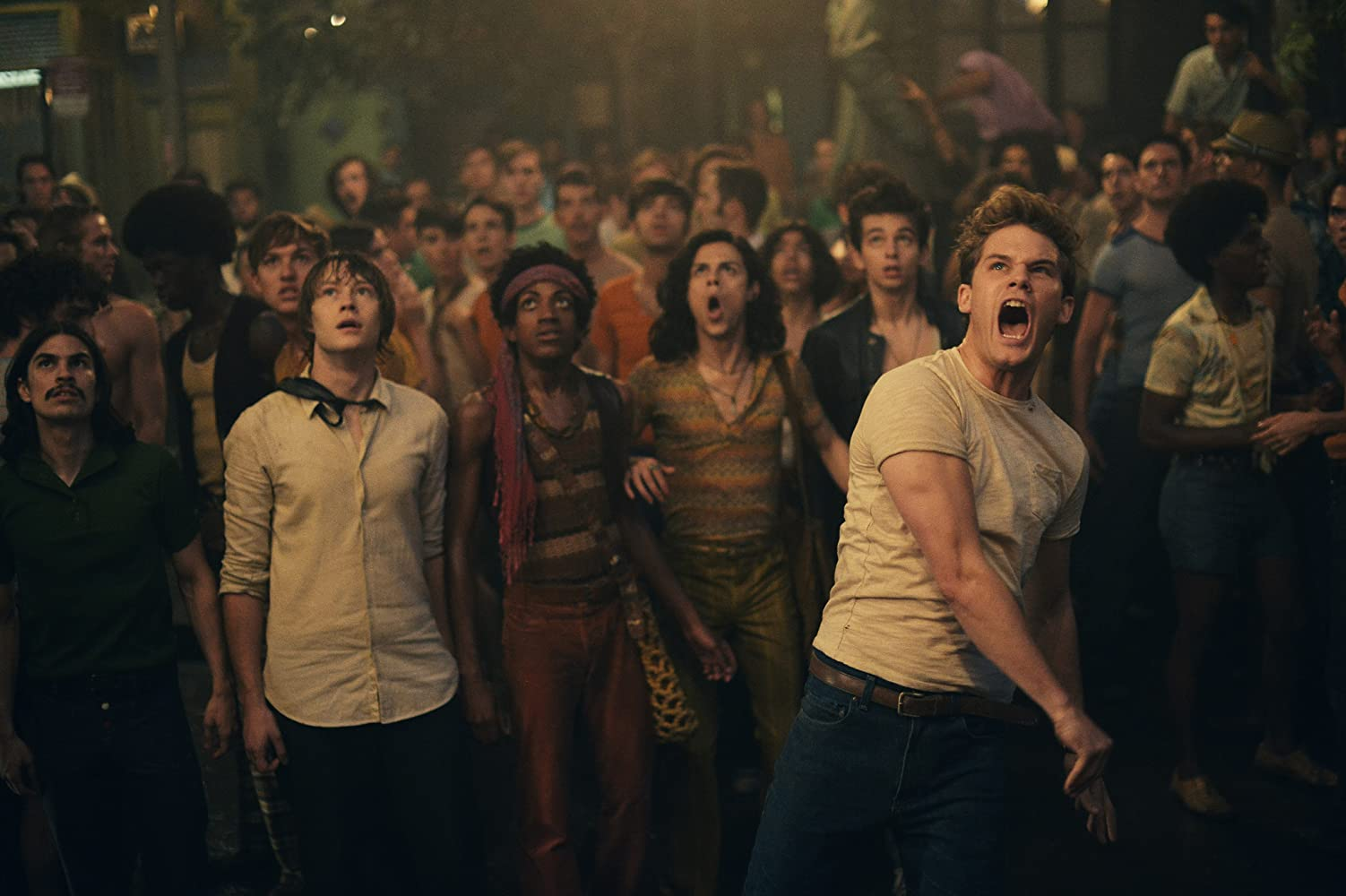 Jeremy Irvine and Jonny Beauchamp in Stonewall (2015)