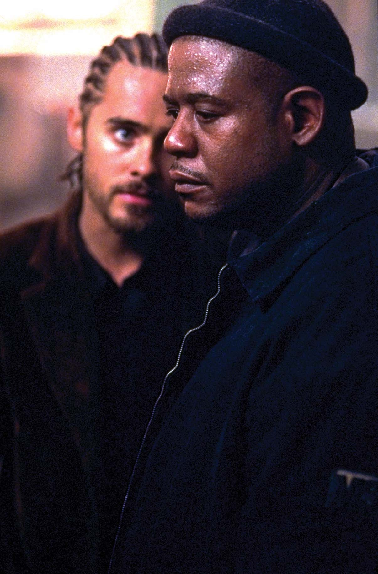 Jared Leto and Forest Whitaker in Panic Room (2002)