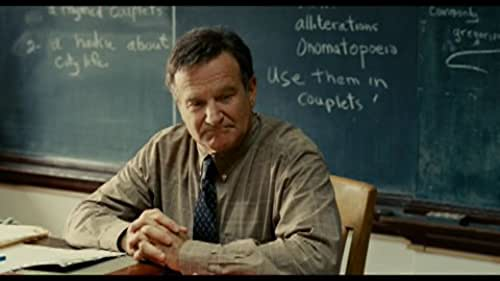 Robin Williams stars as Lance Clayton, a man who has learned to settle.  He dreamed of being a rich and famous writer, but has only managed to make it as a high school poetry teacher.  His only son Kyle (Daryl Sabara) is an insufferable jackass who won't give his father the time of day.  He is dating Claire (Alexie Gilmore), the school's adorable art teacher, but she doesn't want to get serious -- or even acknowledge publicly that they are dating.   Then, in the wake of a freak accident, Lance suffers the worst tragedy and greatest opportunity of his life. He is suddenly faced with the possibility of all the fame, fortune and popularity he ever dreamed of, if he can only live with the knowledge of how he got there