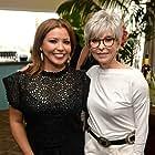 Rita Moreno and Justina Machado at an event for One Day at a Time (2017)
