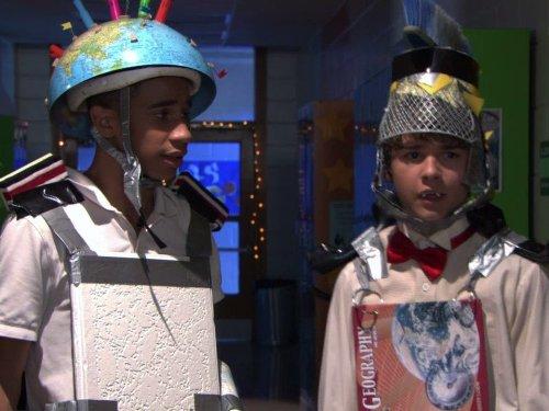 Demetrius Joyette and Dylan Everett in Wingin' It (2010)