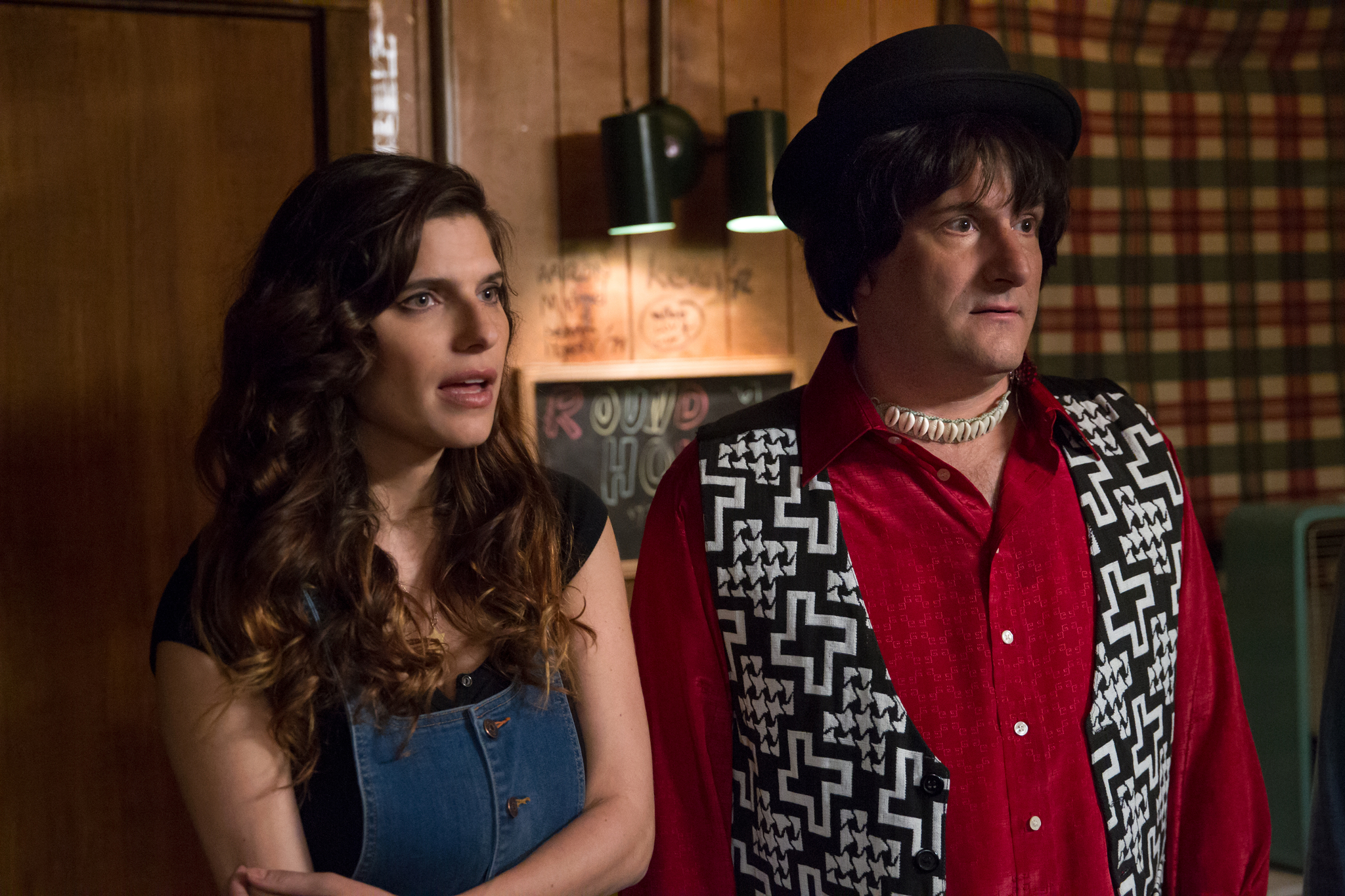 Michael Showalter and Lake Bell in Wet Hot American Summer: First Day of Camp (2015)