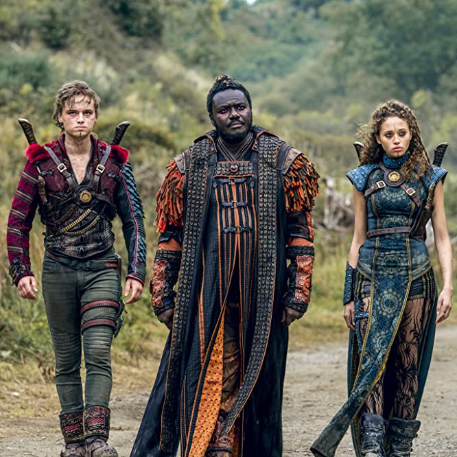 Babou Ceesay, Dean-Charles Chapman, and Ella-Rae Smith in Into the Badlands (2015)