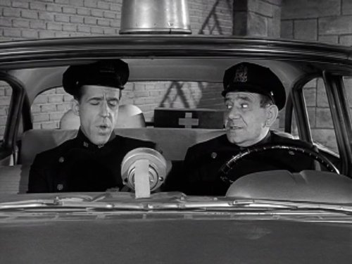 Fred Gwynne and Joe E Ross in Car 54 Where Are You 1961