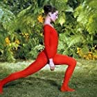 """33-2273 Audrey Hepburn doing exercises on the MGM set of """"Green Mansions"""""""