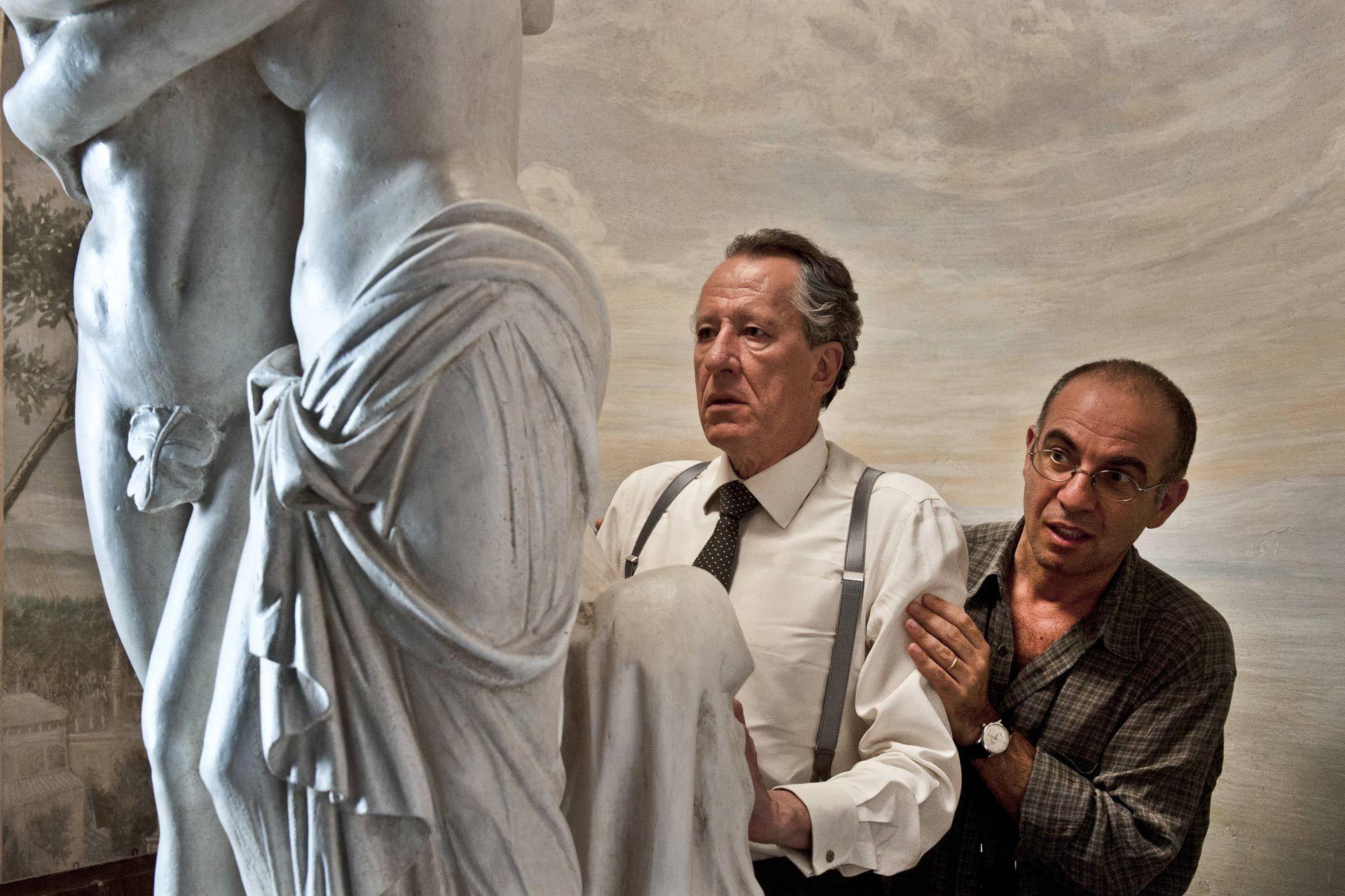 Geoffrey Rush and Giuseppe Tornatore in La migliore offerta (2013)