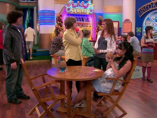 Dylan Sprouse, Matthew Timmons, and Michelle DeFraites in The Suite Life on Deck (2008)