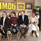 Joshua Marston, Jason Segel, Ira Glass, and Condola Rashad at an event for Come Sunday (2018)