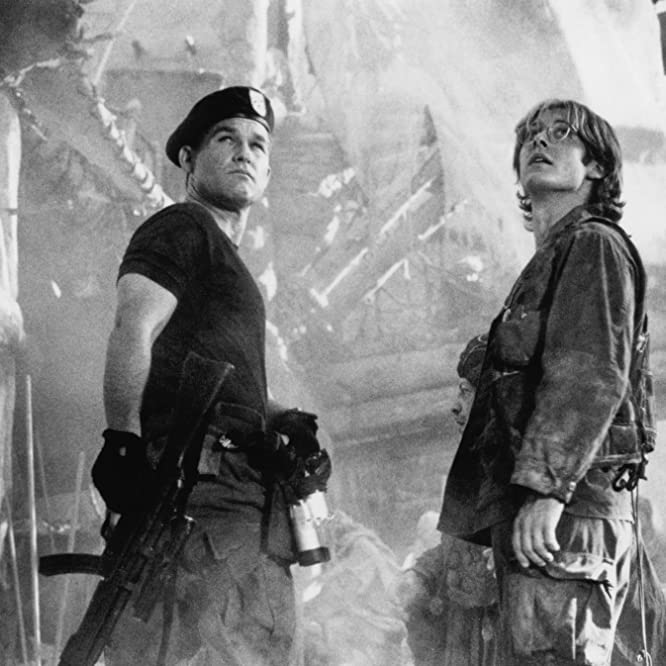Kurt Russell and James Spader in Stargate (1994)