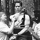 Brawn is no match for brains when Gerry (Aaron Schwartz, left) and Roy (Kenan Thompson, right) take control of the camp and use their clever wits to retaliate against the bully counselors including Lars (Tom Hodges, center), who have made their summer unbearable.