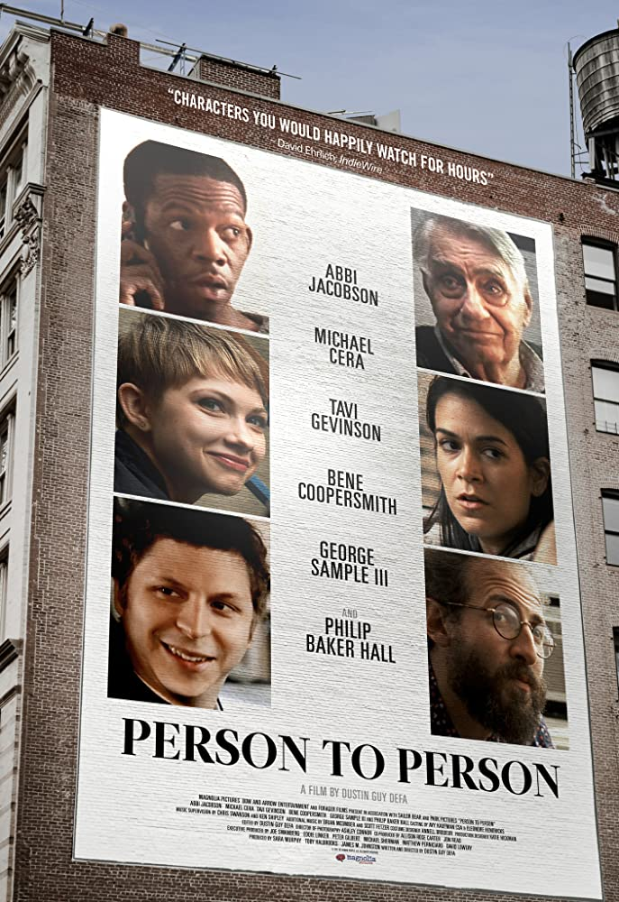 Philip Baker Hall, Michael Cera, Tavi Gevinson, Abbi Jacobson, Bene Coopersmith, and George Sample III in Person to Person (2017)