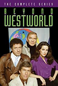 William Jordan, Jim McMullan, Connie Sellecca, and James Wainwright in Beyond Westworld (1980)
