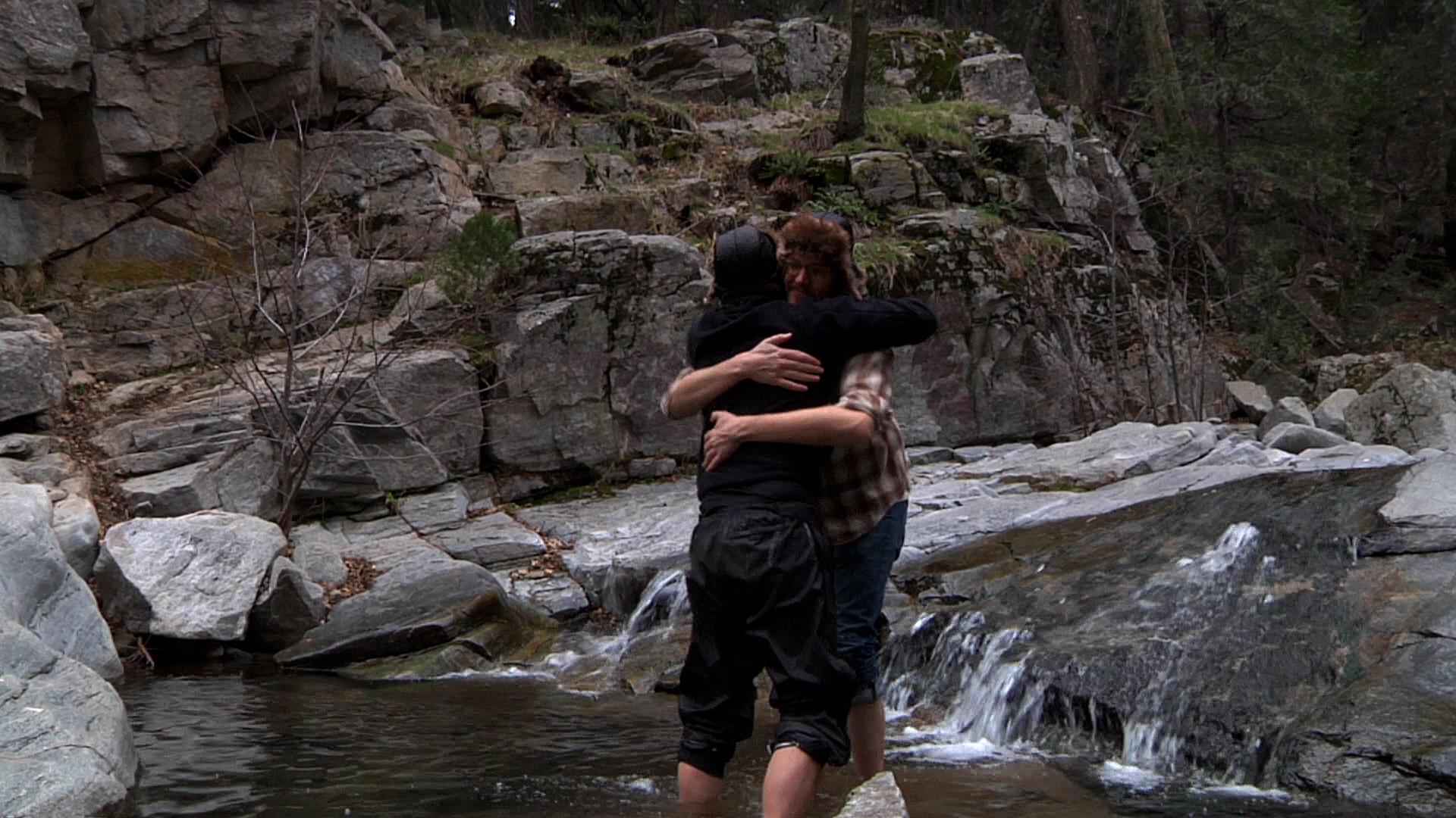 Mark Duplass and Patrick Brice in Creep (2014)