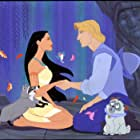 Mel Gibson, Linda Hunt, Irene Bedard, John Kassir, Judy Kuhn, Danny Mann, and Frank Welker in Pocahontas (1995)
