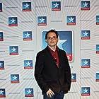 """Pedro Jaén R. at event of Cortópolis, 04/14/2012: in photocall before the DCP screening of """"Salvación"""" and the trailer of """"Cuando nieva sobre el hielo del infierno"""" at Kinepolis Cinema."""