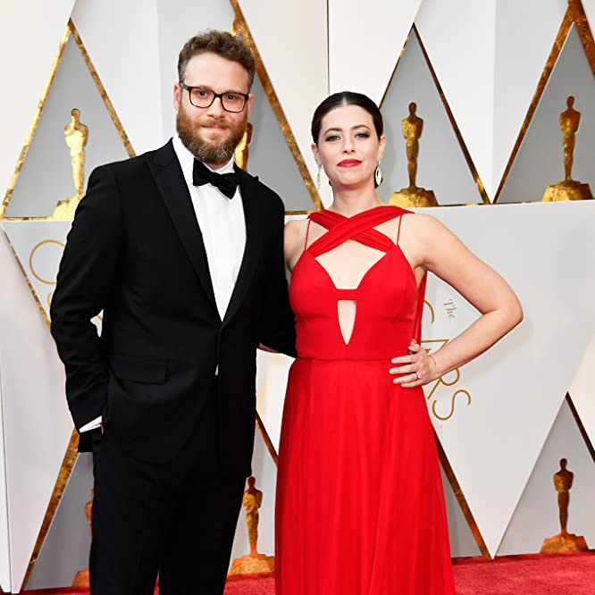 Seth Rogen and Lauren Miller Rogen at an event for The Oscars (2017)