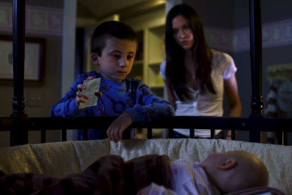 Odette Annable and Atticus Shaffer in The Unborn (2009)