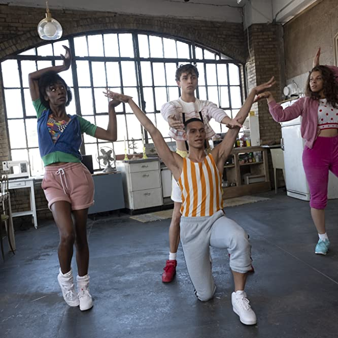 Angelica Ross, Jeremy McClain, Hailie Sahar, and Jason A. Rodriguez in Pose (2018)