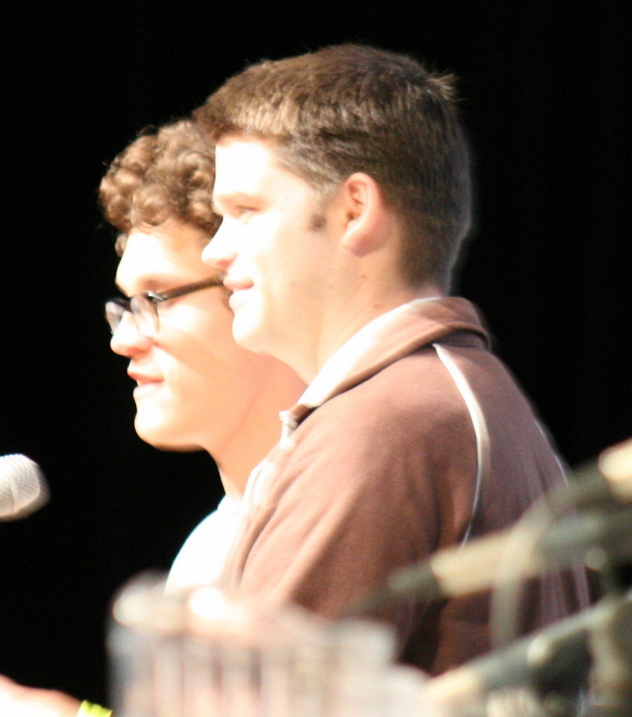 Phil Lord and Christopher Miller at an event for Cloudy with a Chance of Meatballs (2009)