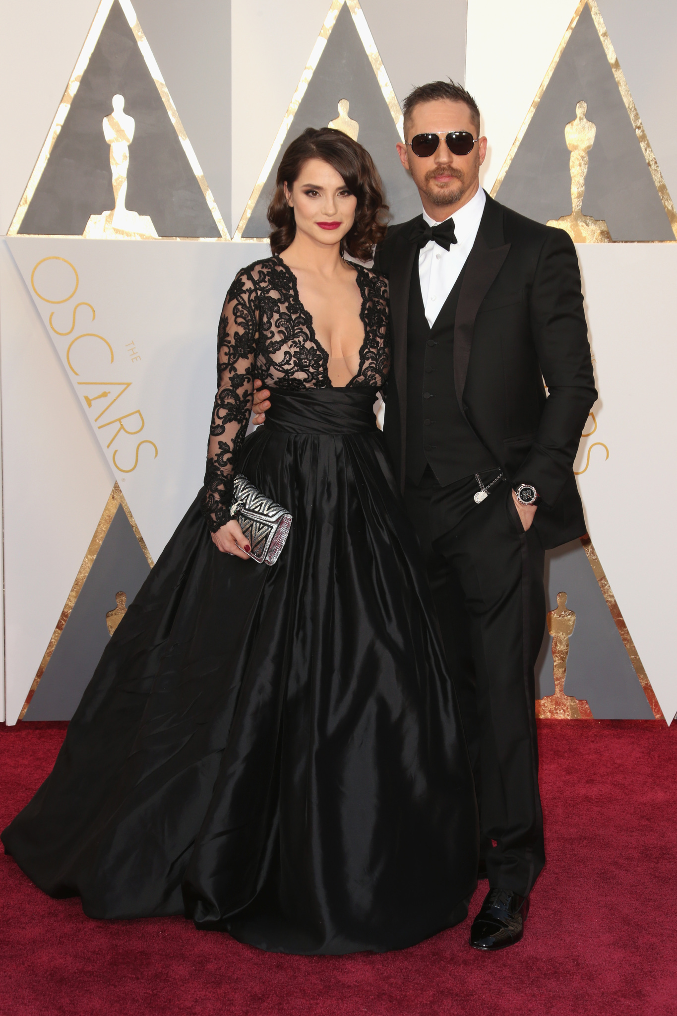 Tom Hardy and Charlotte Riley at an event for The Oscars (2016)