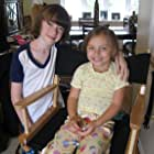 """Actors Caitlin Carmichael and Chandler Frantz filming on set of feature film, """"Forgetting the Girl."""" August 2009"""