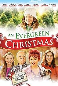 Naomi Judd, Robert Loggia, Booboo Stewart, Charleene Closshey, and Greer Grammer in An Evergreen Christmas (2014)